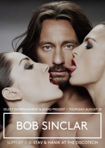 Bob Sinclar plays at Audio Aug 24th